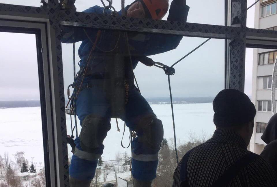 Последний этаж, работа альпинистов